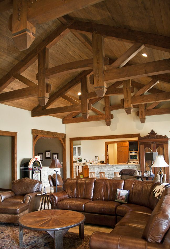 living room couch and chair ideas accent chairs for india timber frame trusses in a gorgeous home! #livingroom # ...