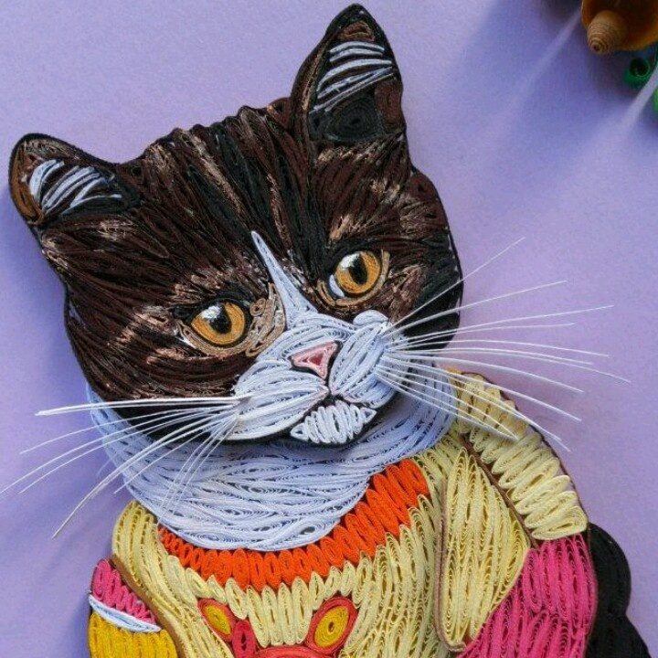 Quilled Christmas Cat Quilling Pinterest Christmas
