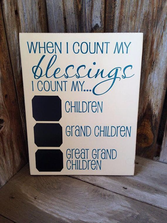 When I count my BLESSINGS I count my Children Grandchildren and   Gift ideas  Pinterest