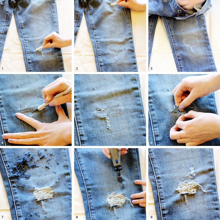25 Best Ideas About Diy Destroyed Jeans On Pinterest Dunkle