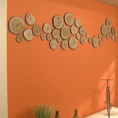 Living Room Decorations With Brown Furniture Colors Grey Floors Utilisima | Vídeos Pared Naranja Con Troncos Luz En ...