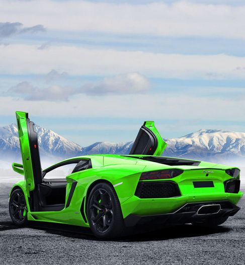 Ice Cool Lamborghini Aventador in exotic Green What do