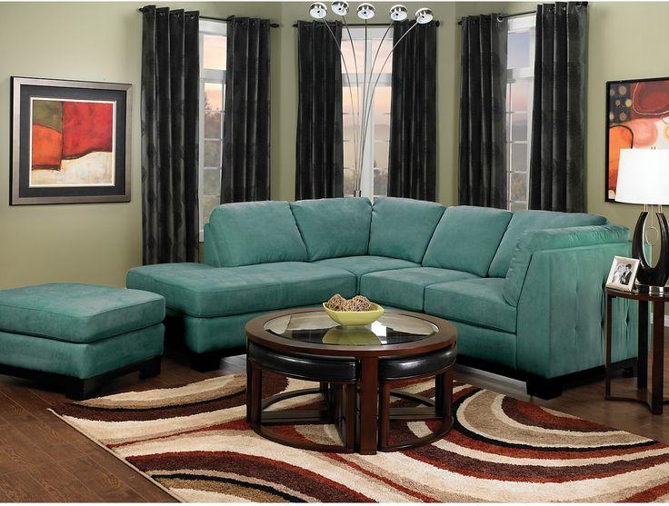 Living Room Furniture Oakdale 2 Piece Microsuede