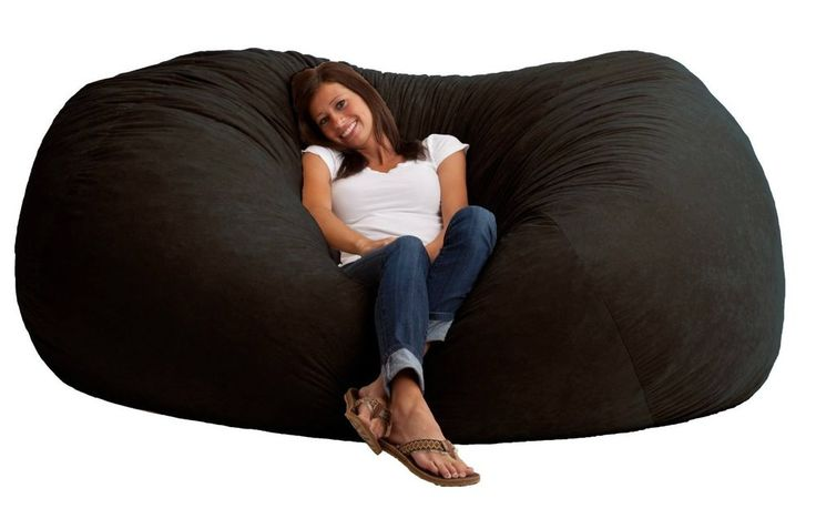 XXL 7' Bean Bag Comfort Chair Soft Cushion Love Seat Sofa