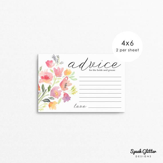 25+ best ideas about Wedding advice cards on Pinterest