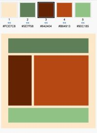 Color Scheme: sage orange and brown home office | Home ...