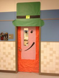 St Patrick's day door decoration for the classroom