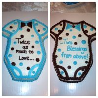 Twin baby boy shower cakes