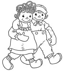 17 Best images about Raggedy Ann Coloring Pages on