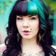 hair love black teal blue aqua