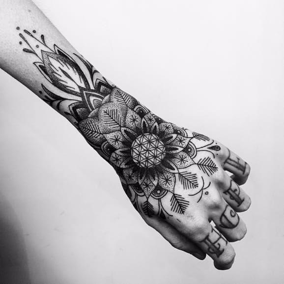1000 ideas mandala wrist