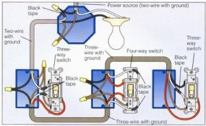 Power at Light 4Way Switch Wiring Diagram | Wiring