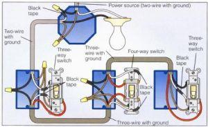 Power at Light 4Way Switch Wiring Diagram | Wiring