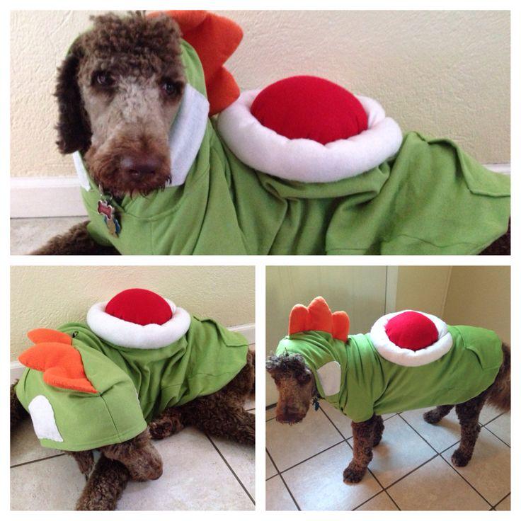 DIY Yoshi dog costume