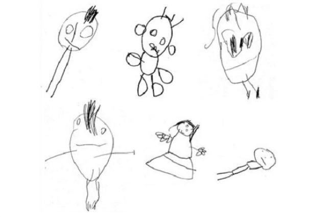Children's drawings correlated with intelligence 10 years