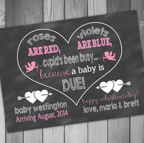 Valentines Pregnancy Announcement Valentines Pregnancy