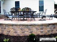 raised patio stamped concrete - Google Search | Patio ...