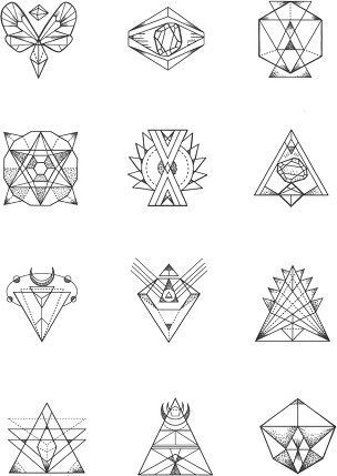 17 Best ideas about Geometric Line Tattoo on Pinterest