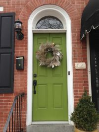 Brick, black shutters and green door...still like this ...