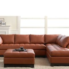 Dania Sleeper Sofas Leather Sofa Sectional Contemporary Valenza Chaise Sectional-marsala | Furniture Pinterest ...
