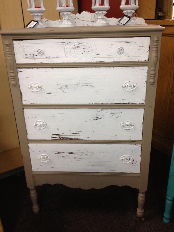 Beige dresser chalk painted  Furniture  Pinterest