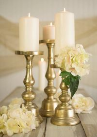 25+ best ideas about Gold candle holders on Pinterest