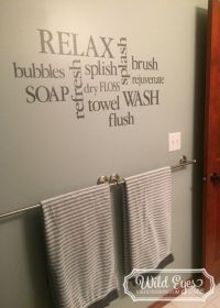 Best 25+ Bathroom wall decals ideas on Pinterest   Ps i ...