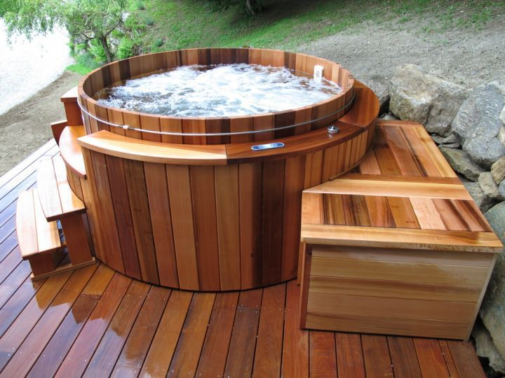 jacuzzi bois exterieur pour terrasse on pinterest spa. Black Bedroom Furniture Sets. Home Design Ideas