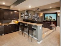 Basement media room with kitchenette. | Home Design ...