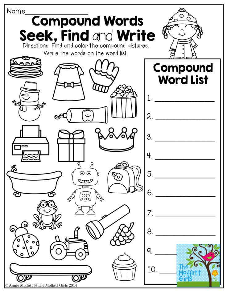 17 Best images about 1st Grade Compound Words on Pinterest