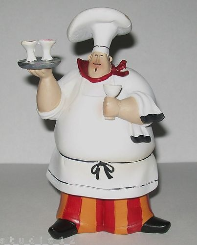 kitchen chef decor lantern lighting jennifer garant fat chefs wine collectible figurine ...