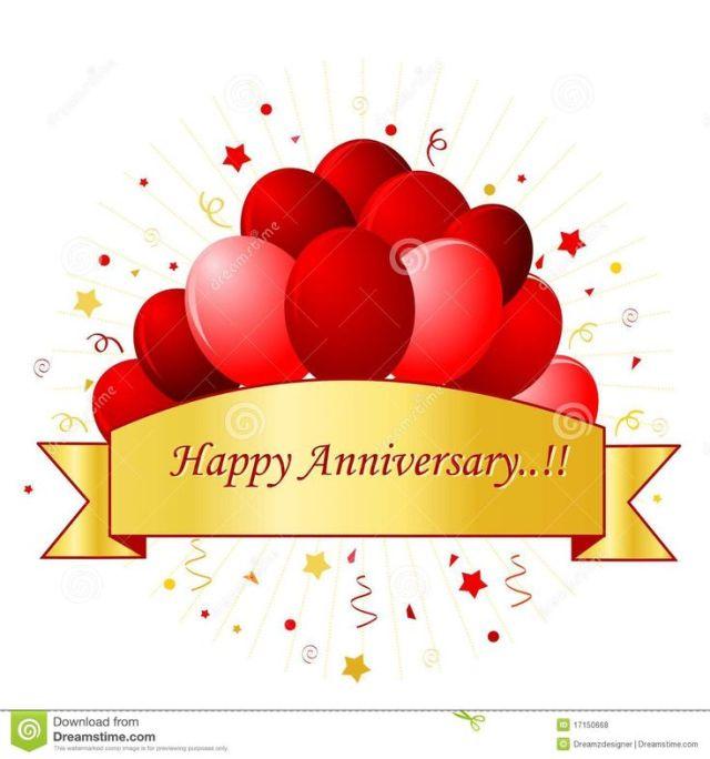 Happy anniversary banner clip art happy anniversary clip