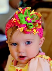 baby hair bow ribbon flower hairbow