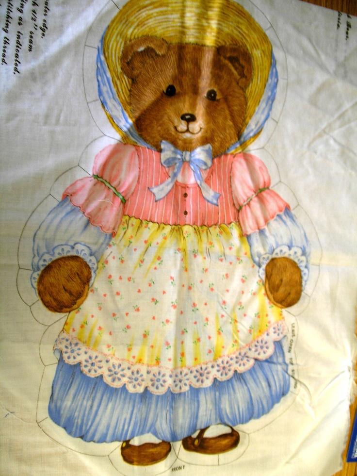 Fabric Panels Stuffed Animals