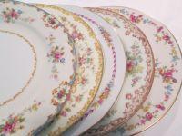 Vintage Mismatched China Dinner Plates - Set of 5 $45 ...