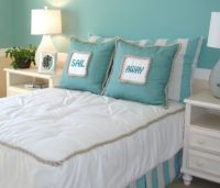 large pillows instead of headboards