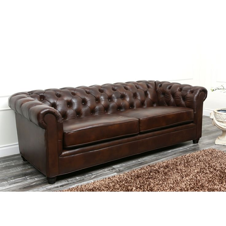sofasandmore sofa l shape ikea abbyson tuscan chesterfield brown leather by ...