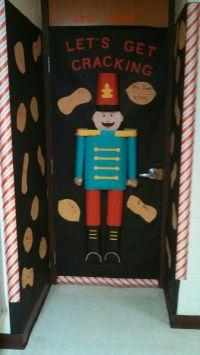 Nutcracker 3-D door decoration... kids wrote name on a nut ...