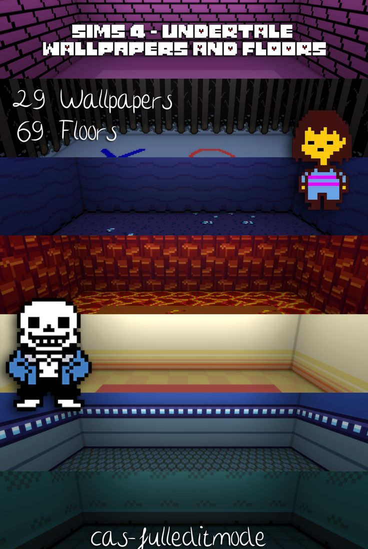 Sims 4  Undertale Floors and WallpapersFinally here they are My first Undertale CC is ready