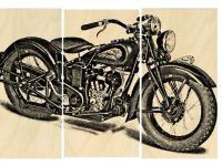 Vintage indian Motorcycle Screen Print Wood by ...