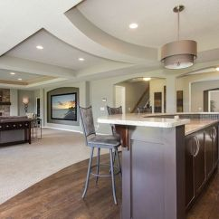 Remodel My Kitchen Double Doors Basement Great Room With Bar And Home Theater | ...