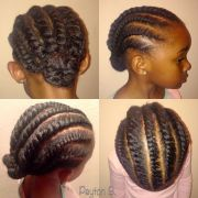 flat two strand twist natural hair