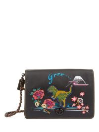 Coach 1941 | Dino Embroidered Leather Shoulder Bag ...