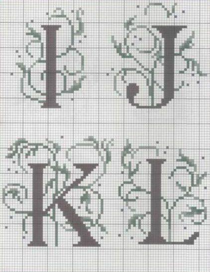 192 best images about Grilles points de croix alphabets on