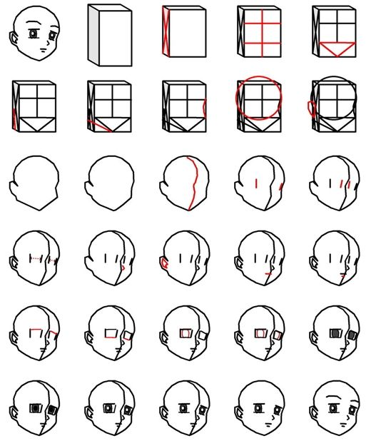 How to draw anime step by step DIY instructions ♥ How to