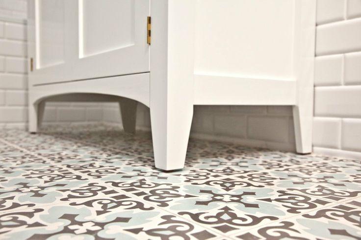 Patterned bathroom floor tiles  Bathroom  Pinterest