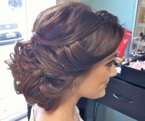 messy bun tousled bun soft curls wedding hair wedding updo bridal hair i give in