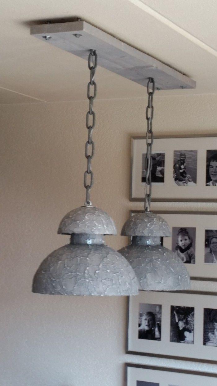 zelf gemaakte industrie hanglamp  Woonkamer  Pinterest