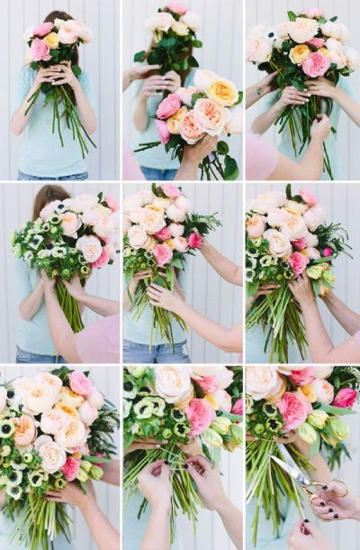 Make This: Giant DIY 'Flower Blocked' Bouquet   Gardens ...