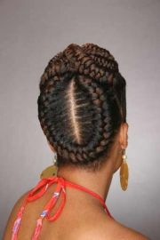 large braided cornrows african